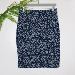 LuLaRoe Navy and Gray Pencil Skirt Sz XL